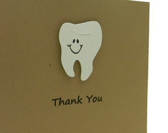 Tooth Thank You Card Dentist Thank You Teeth Dentistry Greeting Card Dentist Gift Dentist Card Thank You Gift Dental Hygienist Custom Color