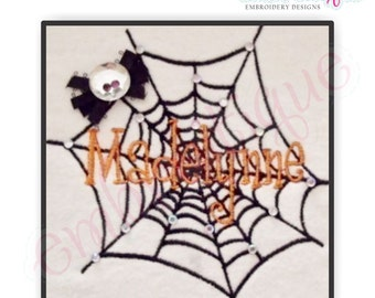Spider Web Embroidery Design- Instant Email Delivery Download Machine embroidery design