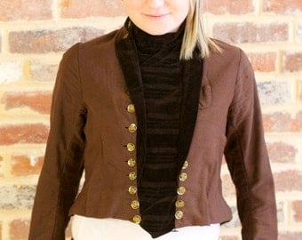 Rare Vintage Early 1900s Women's Victorian Steampunk Waist Coat