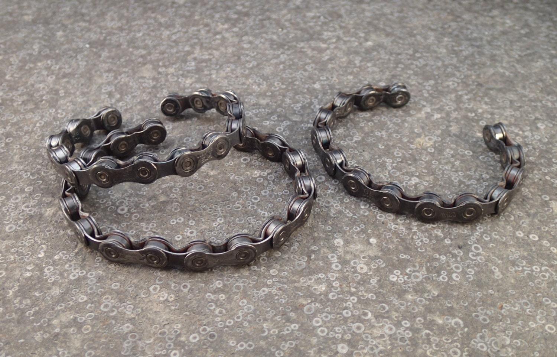Bike Chain Bracelet Bicycle Chain Cuff Recycled