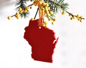 Christmas Ornament Wisconsin Christmas Ornament Gift for the Hostess Tree Trimming Holiday Decoration AHeirloom