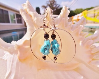 SALE Authentic Turquoise Nugget Stones in Silver Rings by jessentials #T3