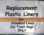 STANDARD LINING REPLACEMENT Plastic Bag Liners, Free Shipping for use with your GreenGoose Car Trash Bags