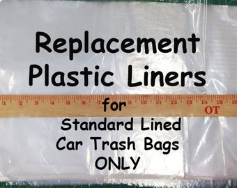 STANDARD LINING REPLACEMENT 10 Plastic Bag Liners, Free Shipping for use with your GreenGoose Car Trash Bags