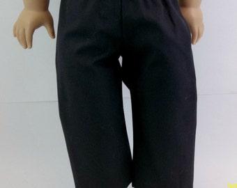Black Cotton Pants for  18 inch Dolls
