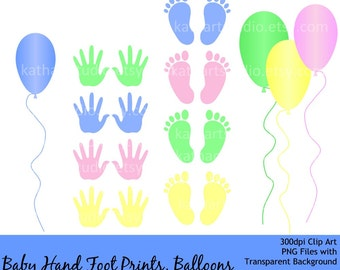 Free instant download baby clip art set baby hand print baby