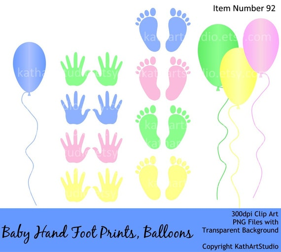 free baby handprint clipart - photo #30