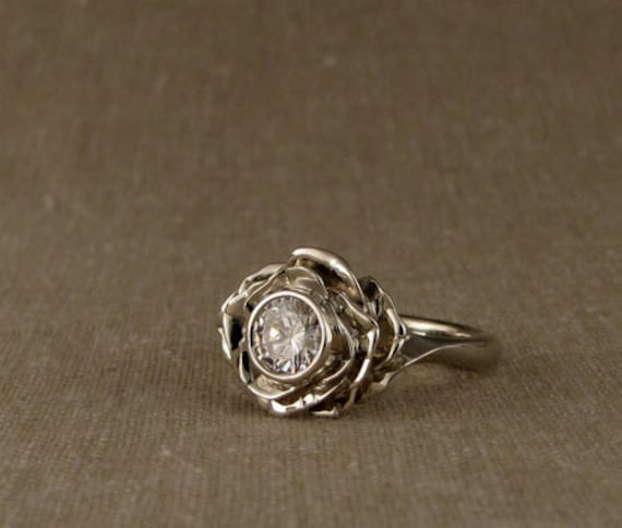 Blooming Rose Solitaire (14K) Made to Order