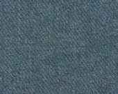 5164-Felted 100 Percent Woven Wool Fabric/Recycled/Ocean Blue Tweed/large size 27.5x9/soft textured wool/purses/needlecrafts/applique/toys