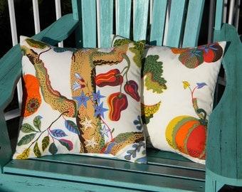 "JOSEF FRANK Genuine textile ""Vegetable Tree"" silkscreened fabric authentic Swedish 15""x15"" or 12""x20"" throw pillow Svenskt Tenn"