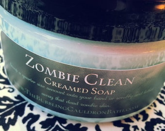 Creamed Soap - Zombie Clean - Bath Whip - Whipped Soap - Zombie Soap - Cream Soap