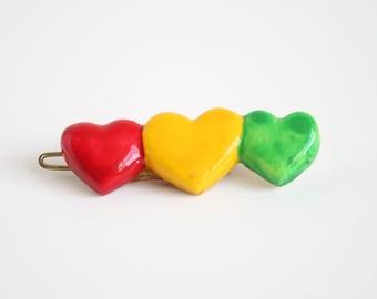 Vintage Heart Barrette