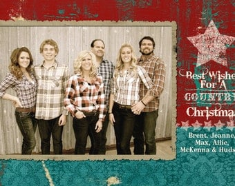 Cowboy Country Christmas Photo Card