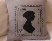 Jane Austen Stamp pillow cover