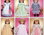 18 inch Historical Doll Clothes Pattern, Pioneer Doll Clothes Pattern, McCall's Sewing Pattern 3627