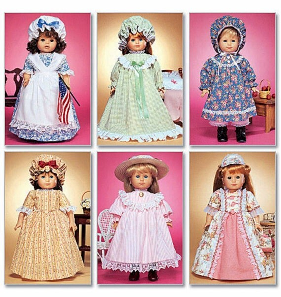 Historical Doll Clothes Pattern, for 18 inch Dolls  McCall's 3627 uncut sewing pattern