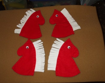 U pick - 4 Horse Head Candy Covers - puppets