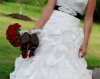 Wedding Dress Crystal Sash Embellishment Crystal Belt