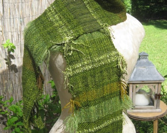 Bright Green Artsy Scarf