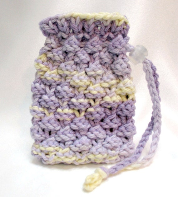 Free Crochet Pattern Soap Bag : Soap Saver Bag Soap Sack Drawstring Pouch by ...