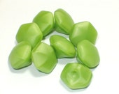 Bright Green Vintage Glass Buttons Small Bead Style 7mm Sewing Jewelry Embellishment Buttons