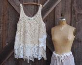 tunic lace crochet vintage doilies