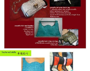 leathercraft pdf tutorial book5 - with caiman crocodile skins plus FREE book about Doctor Bags