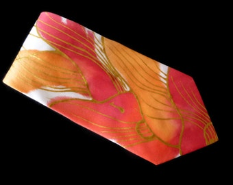 ABSTRACT GUITAR Hand Painted Pure Silk Tie