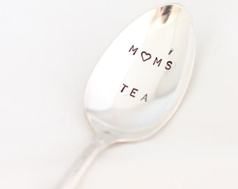 Mom 's Tea Hand Stamped Spoon Heart Stamped Silverware Mothers Day Gifts Under 20 Dollars - Primrose