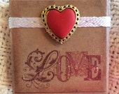 Altered Tile Magnet Valentines Day Love Friendship Gift