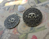 8pcs antique bronze aztec gold/Pirates of the Caribbean findings 40mmx40mm