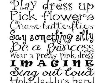 Advice for girls - Vinyl Wall Decal