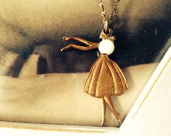Ballerina dancer necklace