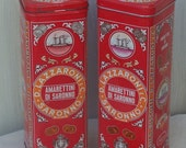 Reserved for L.S. Vintage Metal Tins - Lazzaroni Biscuits - Made in Italy