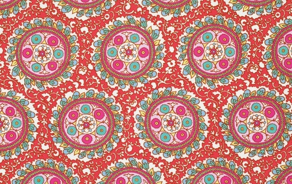 Angelica Pattern in Carmine by Amy Butler - 1 yard