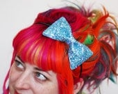 Adult Bow Headband, Glitter Hairband, Pale Blue, Other Colours Available- Black FRiday Cyber Monday
