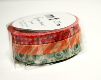 3 x 6mm x 10M Mt slim washi tape rolls