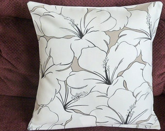 Throw Pillow Decorative Pillow Accent Pillow Cushion Covers Beige Ivory Floral Indoor/Outdoor 16 x 16