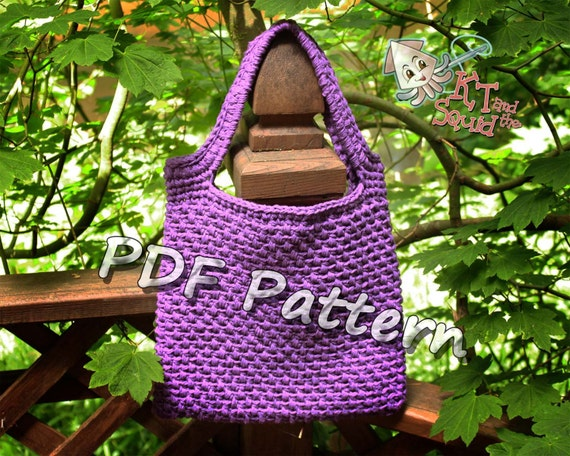 Easy Crochet Tote Bag Pattern : Crochet bag pattern, Crochet tote pattern, purse pattern, textured ...