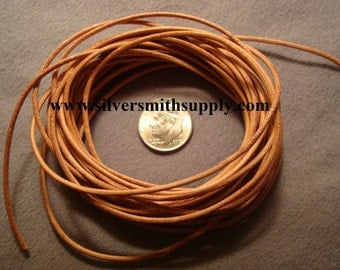 15 feet 1.5mm Natural Leather Thong Beading lace necklace leather cord M046