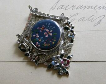 Vintage handpainted cuckoo clock locket for repair