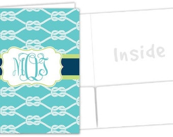 Monogram Pocket Folder - Personalized Sorority Folder