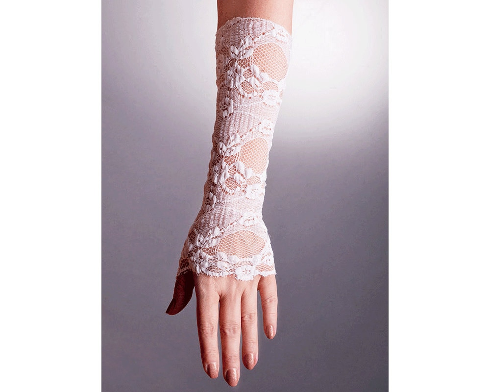 wedding lace gloves fingerless in 2 colorslace wedding
