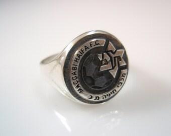 Israel maccabi haifa  Football Club Sterling Silver 925 Ring