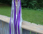 50  Silver and Purple Wedding Wands