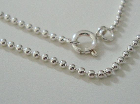 925 Sterling Silver Beautiful Flexible Beaded Ball Finished Chain, 1 pcs, 18 Inches, 1.5mm, 925 stamped