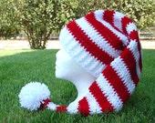 Crochet Long Stocking Cap Elf Hat Pattern