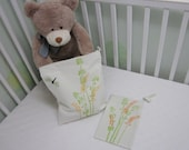 Two Wet Bags SET . New Baby Gift Set. Baby Shower Gift.  Eco Friendly. Wild Grasses and Dragonflies.