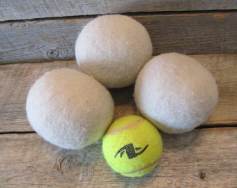 Set of 3 - XL 100% Wool Dryer Balls, Ready to Ship Today