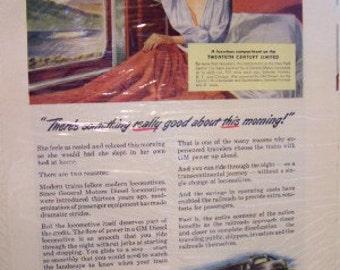 General Motors Electro Motive Division La Grange Illinois Train Twentieth Century Limited ad 1947